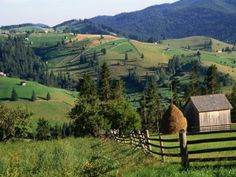 Romania - first mission trip when I was 14, beautiful countryside!