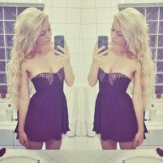 """Platinum blonde ZALA hair extensions customer in her 26"""" long locks. You would never know her her was SHORT!!  Beautiful styling and stunning look! www.zalacliphairextensions.com.au"""