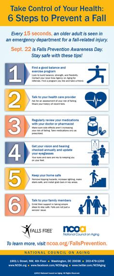 Every 15 second, an older adult is seen in an emergency department for a fall-related injury. Here are some helpful tips to make sure you are not one of them. #preventingfalls #seniors #caregiver