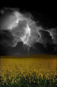 A stormy night.