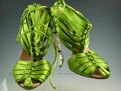 Tom Ford | Gucci | Green Corset Back Bamboo Heel