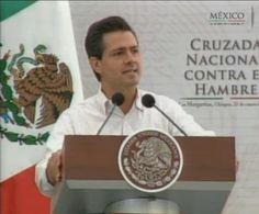 Cruzada Nacional contra el Hambre...    El hambre es una verdad ignorada.   Hay quienes no la conocen,   otros no la aceptan;   y algunos ni siquiera se atreven a mencionarla.  Resulta lastimoso, lamentable y doloroso,   que sigan existiendo mexicanos que padecen hambre en todas las entidades del país.    @EPN