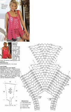Luty Artes Crochet: Blusas em crochê + Gráficos.