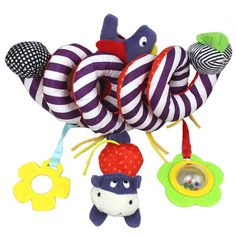 Lovely Cute Baby Toddler Rainbow Wrist Foot Bell Rattle Pram Crib Shaker L/_D