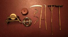 Diversos aperos de labranza para Belén de figuras de 10 cm.