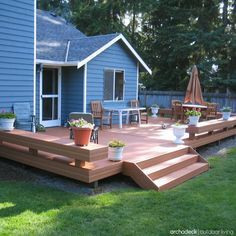 If your backyard has limitations, don't fret.  Instead, use the space to your advantage.  Begin by rethinking the square footage and use clever ideas to facilitate the best use of the property you DO have. | Small Decks with Big Function | more at archadeckwestcounty.com