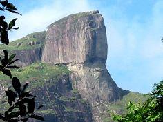 "Human face on Pedra da Gavea in Rio de Janeiro, Brazil, known as ""Head of the Emperor"""