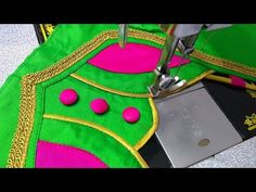 Blouse Design - YouTube Patch Work Blouse Designs, Simple Blouse Designs, Stylish Blouse Design, Saree Blouse Neck Designs, Kurti Neck Designs, Bridal Blouse Designs, Silk Thread Bangles Design, Blouse Designs Catalogue, Design Youtube