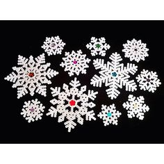 Snowflakes perler beads by anithesith