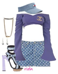 A fashion look from June 2017 featuring black heeled sandals, crystal jewellery and pearl jewelry. Browse and shop related looks. Indie Fashion, Aesthetic Fashion, Aesthetic Clothes, Cute Fashion, Cute Swag Outfits, Trendy Outfits, Mode Outfits, Girl Outfits, Virtual Fashion