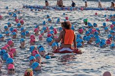 Hawaii Ironman World Championship prior to swim start. By Randy Wrighthouse