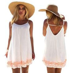 FAPIZI ♥ Women Dress ♥ Women Backless Short Summer Beach Mini Dress Sundress