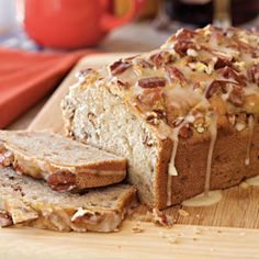 Cream Cheese-Banana-Nut Bread ... This is absolutely the best bread ever. It makes 2 loaves so I always freeze one and it is always ready for impromptu company. I made 4 loaves for May daughter's Wedding and included slices for the Guests welcome bags.