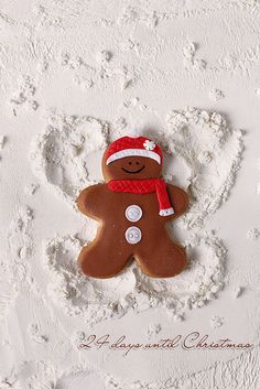 1/25 Gingerbread man is making a snow angel | Flickr - Photo Sharing!