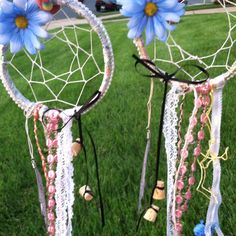 My friend and I made homemade dream catchers! Easy enough to do but took a while!