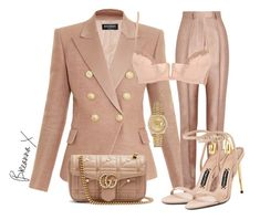 A fashion look from October 2017 featuring balmain blazer, Haider Ackermann and La Perla. Browse and shop related looks. Cute Swag Outfits, Girl Outfits, Chic Outfits, Plastic Girl, Trouser Outfits, Fashion Books, Fashion Killa, Polyvore Outfits, Casual Chic