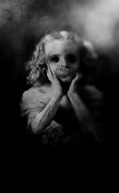 One Helluva Nightmare! Creepy Little Girl, Creepy Ghost, Scary Scary, Danse Macabre, Macabre Art, Scary Places, Creepy Things, My Demons, Dark Matter