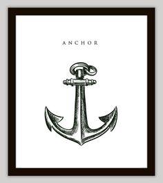 Anchor Nautical Home Decor Wall Art, $7