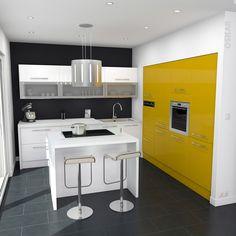 harmoniser murs jaune avec sol gris   Google images, Kitchens and ...