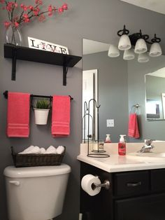 Love this color scheme for the bathroom! Definitely going with this! It's the one that I keep going back to. Now to find the matching shower curtain etc... So excited!!!