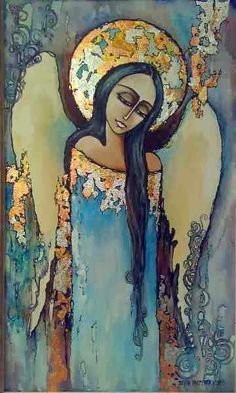 anioł obrazy - Szukaj w Google Religious Paintings, Religious Art, Angel Paintings, I Believe In Angels, Angel Art, Painting Inspiration, Les Oeuvres, Folk Art, Street Art
