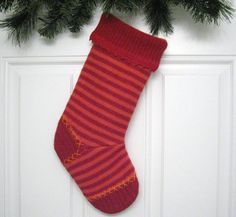Handmade Christmas Stocking from Red and Orange by mmwolters