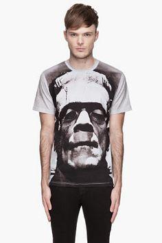 Christopher Kane Greyscale Frankenstein T-shirt for men   SSENSE