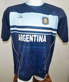 ARGENTINA SOCCER JERSEY T-SHIRT DRAKO FÚTBOL ONE SIZE L FOOTBALL WORLD CUP 2014 #Drako #soccershirts #soccerjerseys #fifaworldcup #football #soccer #worldcup2014 #argentina