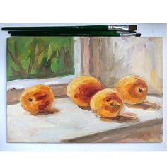 "Картина ""Персики"". Масло. 35х25 см"