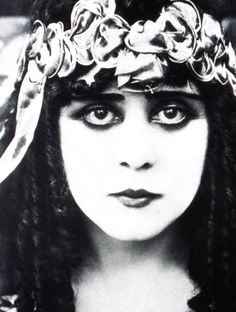 """""""A Fool There Was"""" was brought to the silver screen by George Fox in 1915.    Theda Bara."""