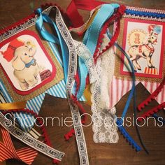 Vintage circus highchair banners by Shoomie Occasions