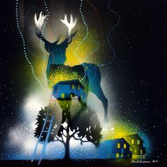 THE ARRIVAL - NORTHERN LIGHTS | Randi Antonsen Artist and art teacher - ArtPeople.Net