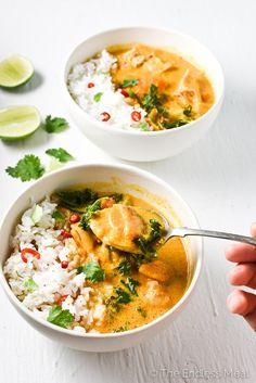 Crock Pot Thai Chicken Curry | theendlessmeal.com