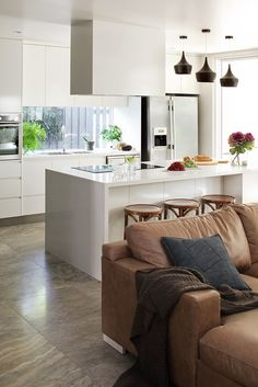 Queensland Homes Blog » House to Home » Queensland Homes Blog Downstairs Open plan living Kitchen view