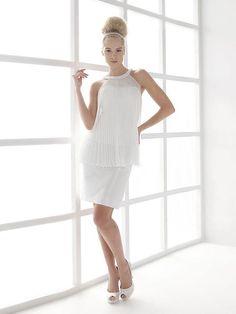 Vestido de Novia Corto de Dos Piezas -- Nicole Spose