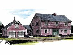 Eplans Colonial House Plan - Spacious Cape Cod with Dramatic Family Room Ceiling - 1992 Square Feet and 4 Bedrooms from Eplans - House Plan Code HWEPL14111