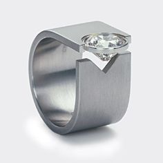 Solitaire Tension Ring® by Niessing (No this isn't that *kind* of a ring. I want this for everyday wear.)