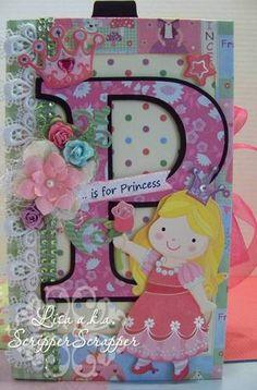 """P Is for Princess"" Paper Bag Album   eBay"