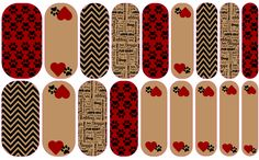 Custom Jamberry NAS Vinyl Nail Wraps.   love my dog.  Only available thru www.imaginethatnails.jamberrynails.net OR Facebook: Imagine That Nails by Lori