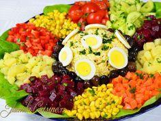Appetitzer entrance per table Appetizer Recipes, Salad Recipes, Appetizers, Salad Buffet, Moroccan Salad, Big Salad, Edible Arrangements, Warm Food, Slow Food