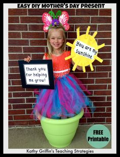 Fun Mother's Day Gifts - have each child put on a tutu and hold up the signs