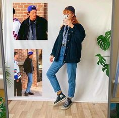 My all time fave Friends character: channeling Chandler Bing today ! 💙 - Who's your favourite character in Friends? Grunge Style, Neo Grunge, Soft Grunge, Chandler Bing, Tokyo Street Fashion, Retro Outfits, Grunge Outfits, Friend Outfits, Girl Outfits