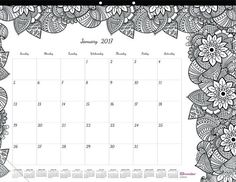 Blueline 2017 Monthly Coloring Desk Pad Calendar, Botanica