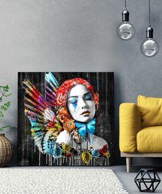 Tableau Ange Pop Art by Lowrens - Tableau Deco Tableau Pop Art, Reproduction, Female Art, Painting, Visionary Art, Impressionism, Angel, Canvas, Face