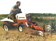 Gravely Mowers 489133209525118648 - Gravely Garden Tractor with front mount Rototiller. Source by Tractor Mower, Lawn Mower, Lawn Tractors, Heavy Equipment, Outdoor Power Equipment, Outdoor Tools, Lawn Care, Lawn And Garden, Agriculture