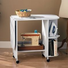 Great storage for sewing table !