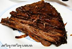 Slow Cooker BBQ Brisket from Artsy Fartsy Mama