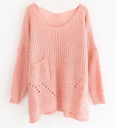 Loose Hollow Long Sleeve Sweaters
