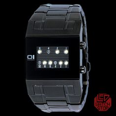 For the hubby.  THE ONE: KERALA TRANCE - UNDERWORLD  Binary LED Watch
