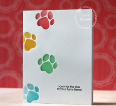 920493b64f51 Sorry for the Loss of yoru Furry Friend card by Laura Bassen for Paper  Smooches - Cat Icon dies